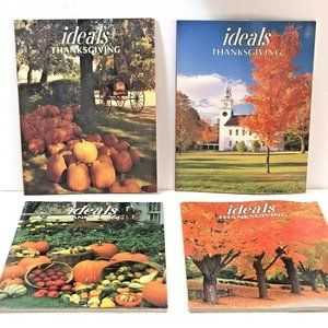 Vintage Lot of 4 ideals Thanksgiving Magazines